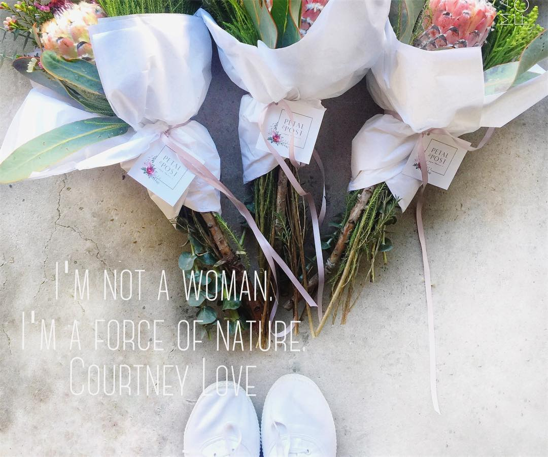 Happy Women's Day beautiful ladies — With love, the Petal&Post Team xx  PS. there are a few Women's Day posies left this morning, for order before 10am (link in bio)