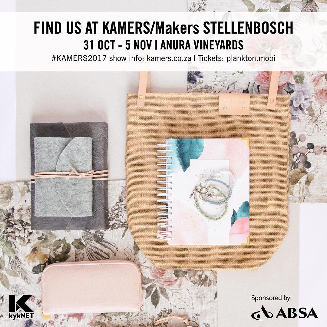 Come find us at the Kamers Market in Stellenbosch 31 October – 5 November! #kamers2017